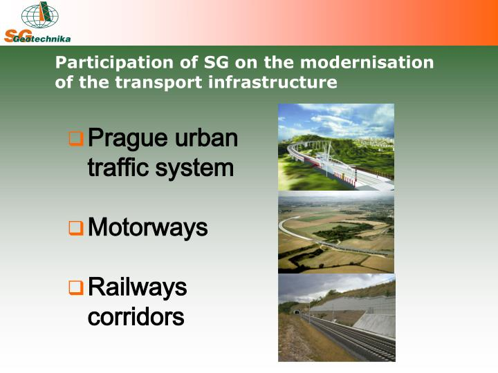 Participation of SG on the modernisation