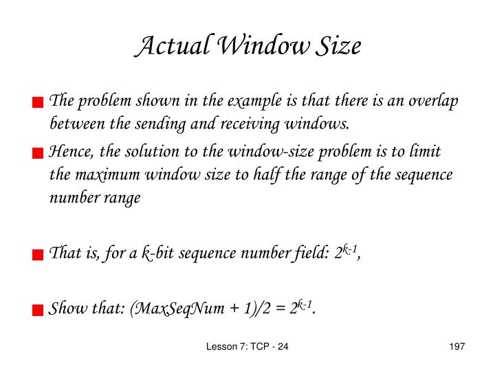 Actual Window Size
