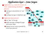 application layer some jargon