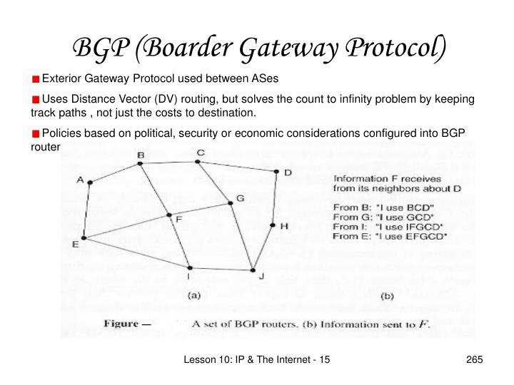 BGP (Boarder Gateway Protocol)