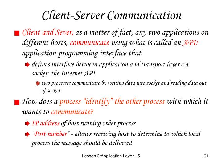 Client and Sever,