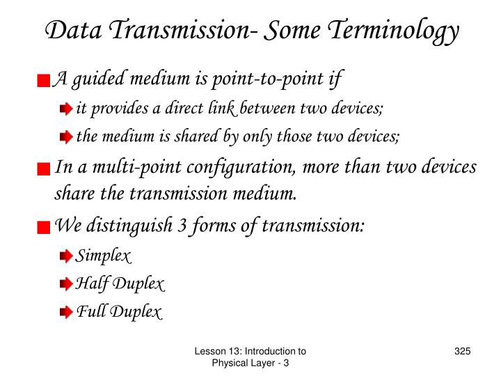 Data Transmission- Some Terminology