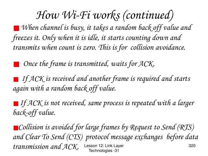 How Wi-Fi works (continued)