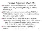 internet explosion the1990s