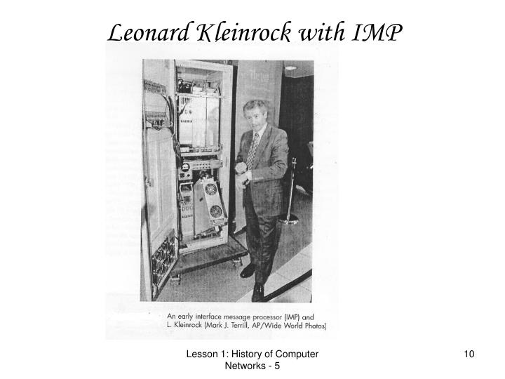 Leonard Kleinrock with IMP