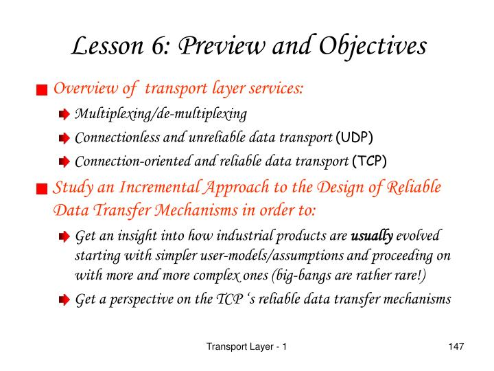 Overview of  transport layer services: