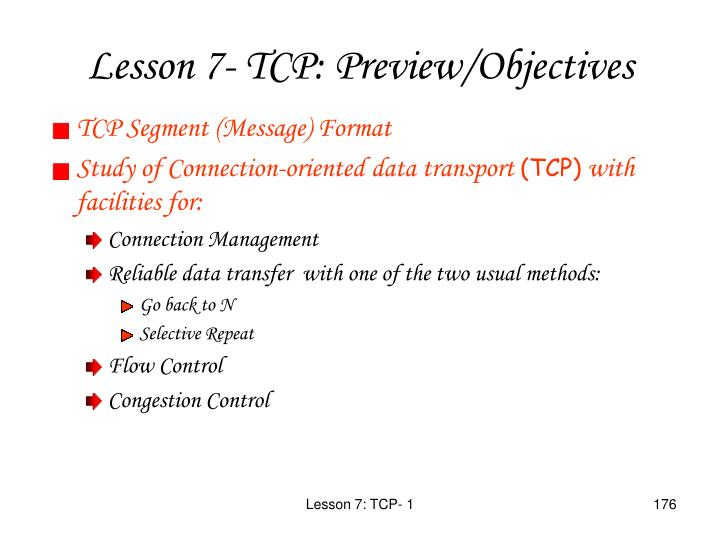 TCP Segment (Message) Format