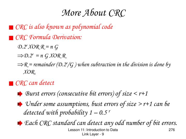 More About CRC