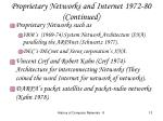 proprietary networks and internet 1972 80 continued