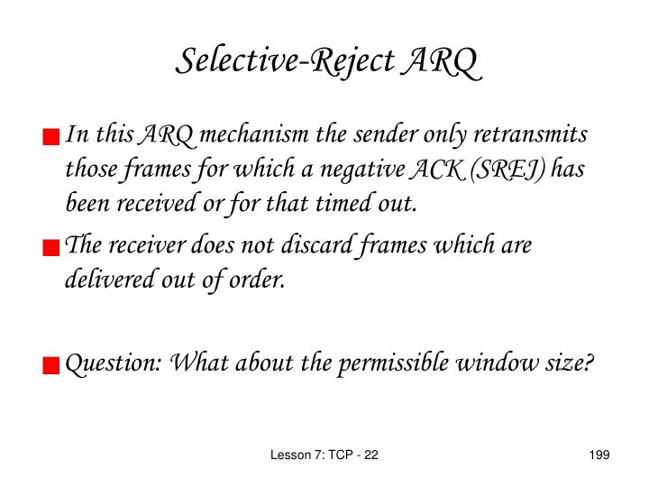 Selective-Reject ARQ