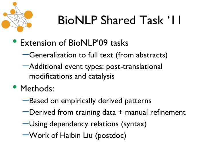 BioNLP Shared Task
