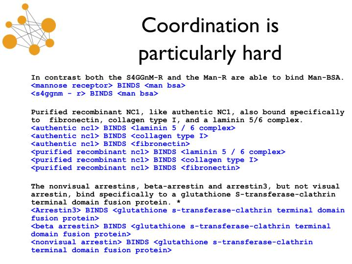 Coordination is