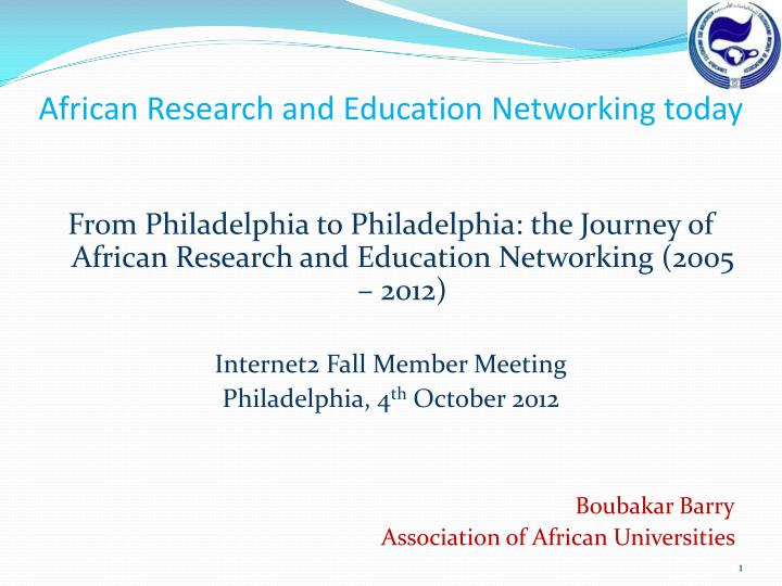 African Research and Education Networking today