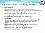 opportunities and way forward