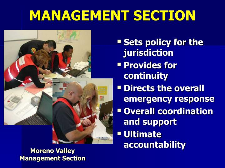 MANAGEMENT SECTION
