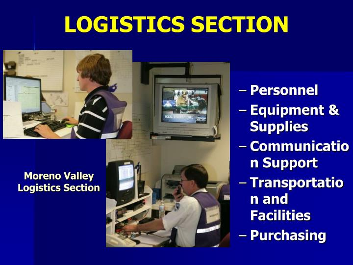 LOGISTICS SECTION