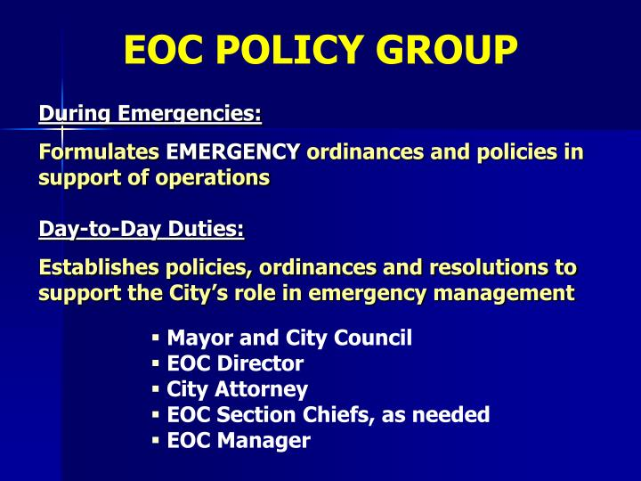 EOC POLICY GROUP