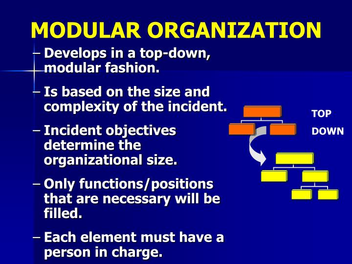 MODULAR ORGANIZATION