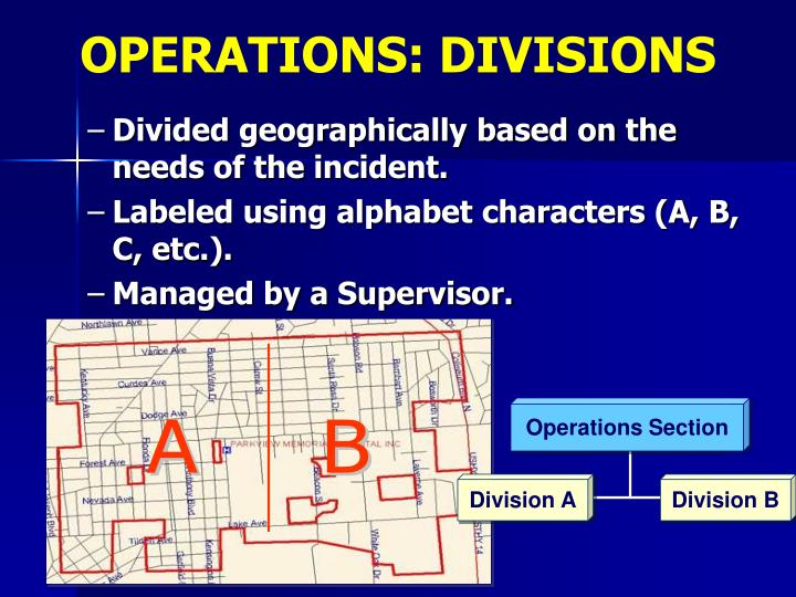 OPERATIONS: DIVISIONS