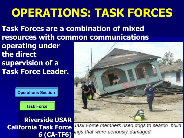 OPERATIONS: TASK FORCES