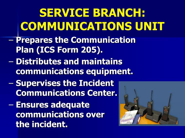 SERVICE BRANCH: COMMUNICATIONS UNIT