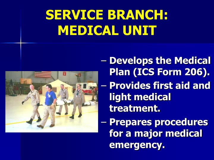 SERVICE BRANCH:                MEDICAL UNIT