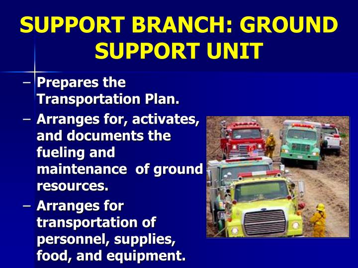 SUPPORT BRANCH: GROUND SUPPORT UNIT