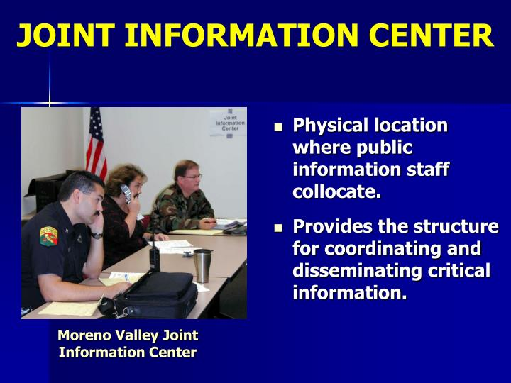 JOINT INFORMATION CENTER