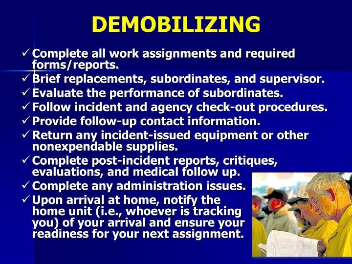 DEMOBILIZING