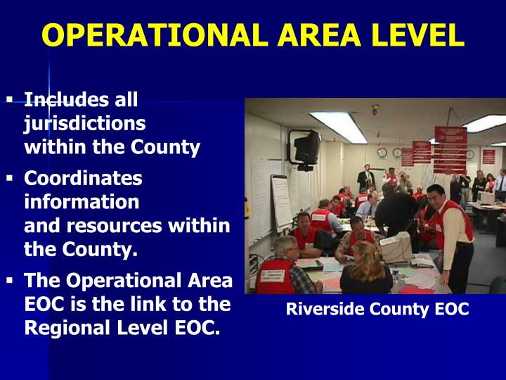 OPERATIONAL AREA LEVEL