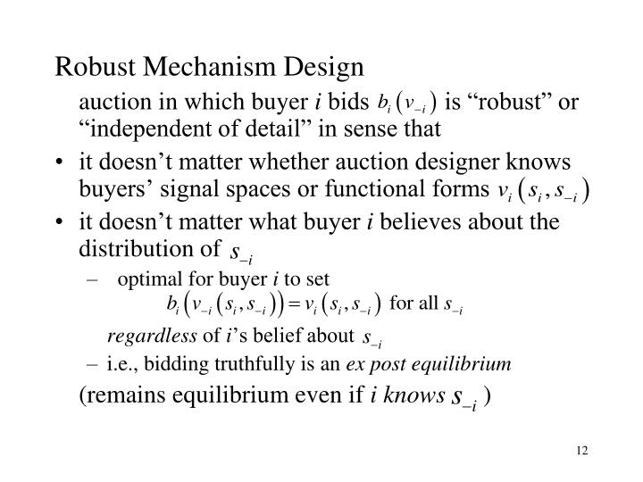 Robust Mechanism Design