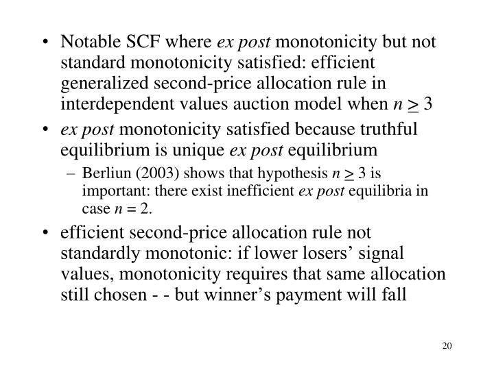 Notable SCF where