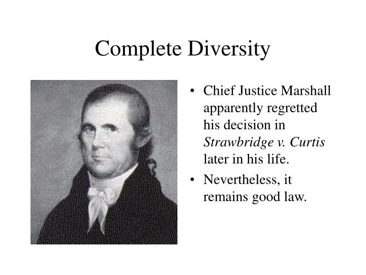 Complete Diversity