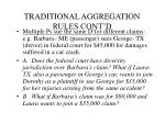 traditional aggregation rules cont d
