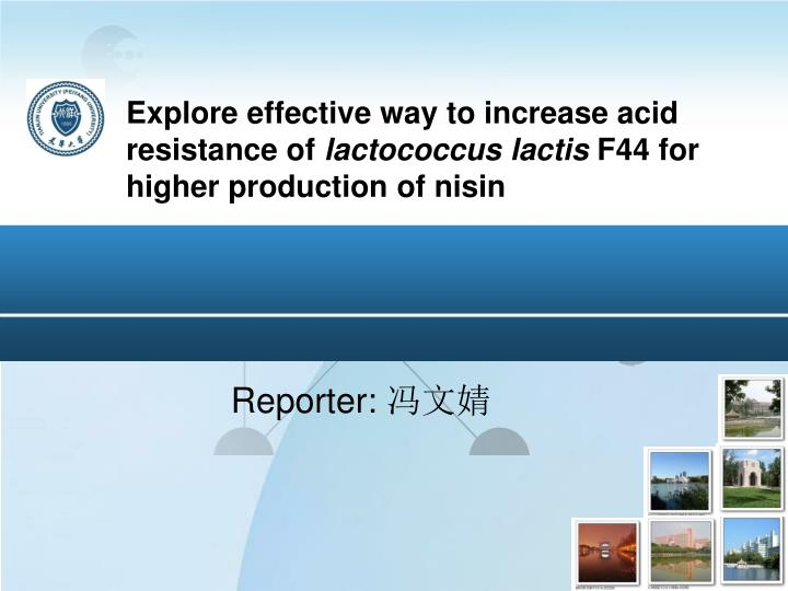 Explore effective way to increase acid resistance of