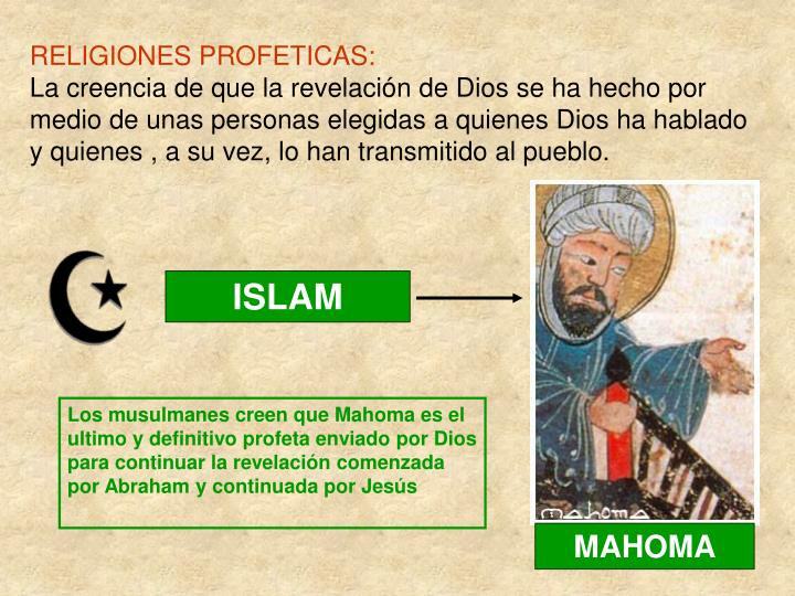 RELIGIONES PROFETICAS: