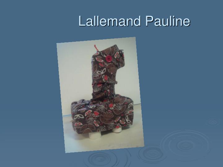 Lallemand Pauline