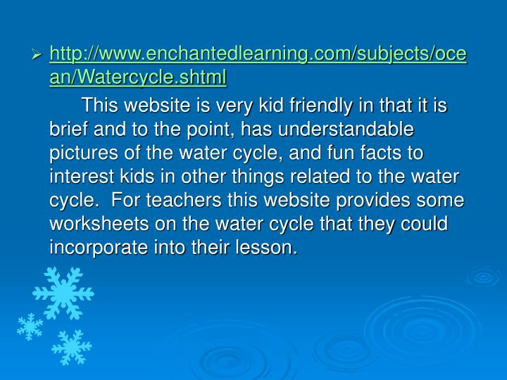 http://www.enchantedlearning.com/subjects/ocean/Watercycle.shtml