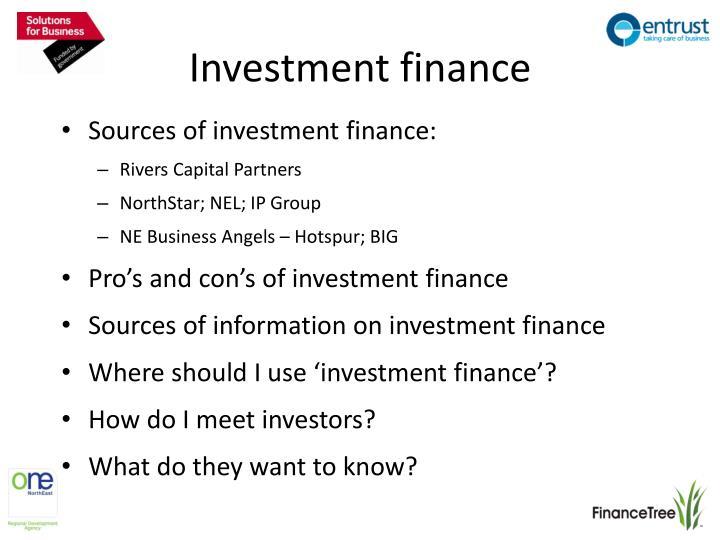 Investment finance