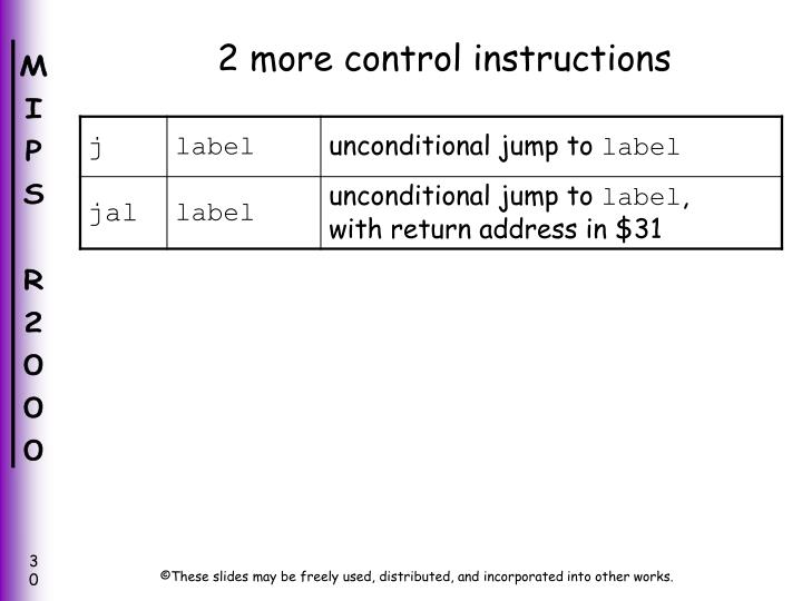 2 more control instructions