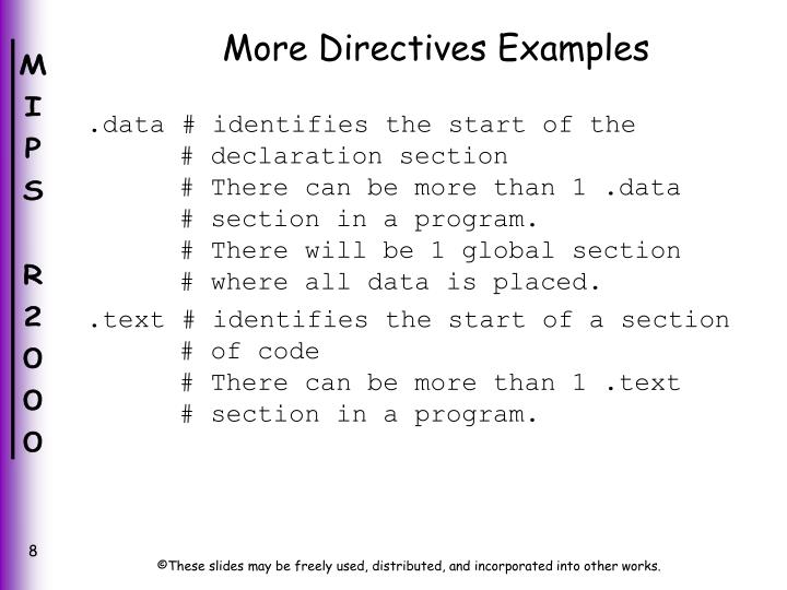 More Directives Examples