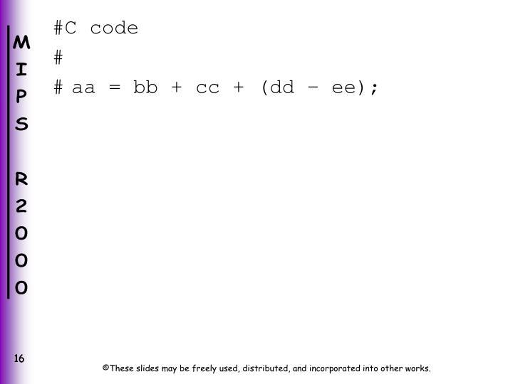 #C code