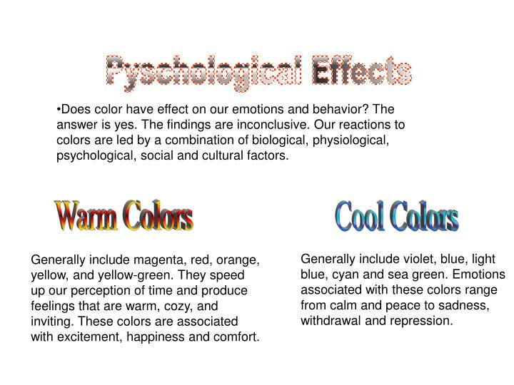 Pyschological Effects