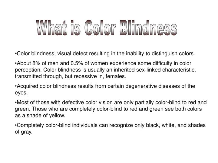 What is Color Blindness