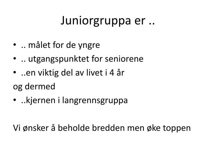 Juniorgruppa er ..