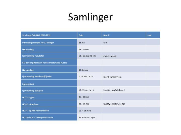 Samlinger