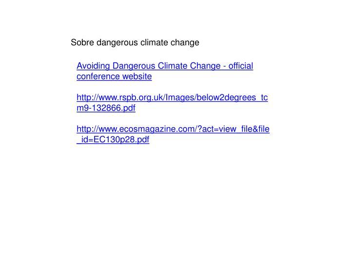 Sobre dangerous climate change