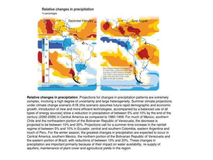 Relative changes in precipitation