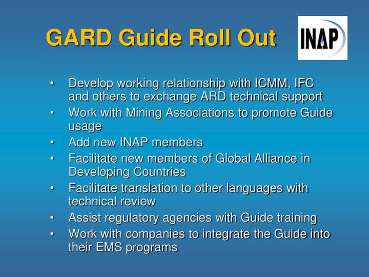 GARD Guide Roll Out