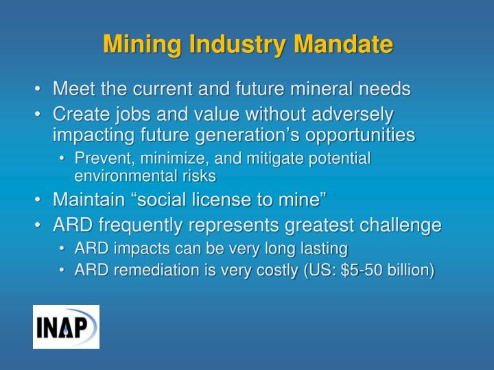 Mining Industry Mandate